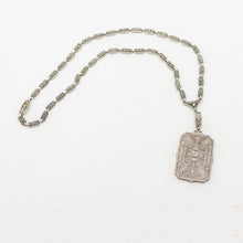 Load image into Gallery viewer, 1920's Art Deco Filigree Diamond Necklace - 14kt White Gold