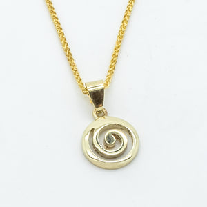 Ancient Labyrinth Pendant - 14kt Yellow Gold