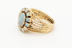 Vintage Opal Ring - 14kt Yellow Gold