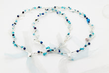Load image into Gallery viewer, Olympic Style Stefana With Turquoise - Silver Tone