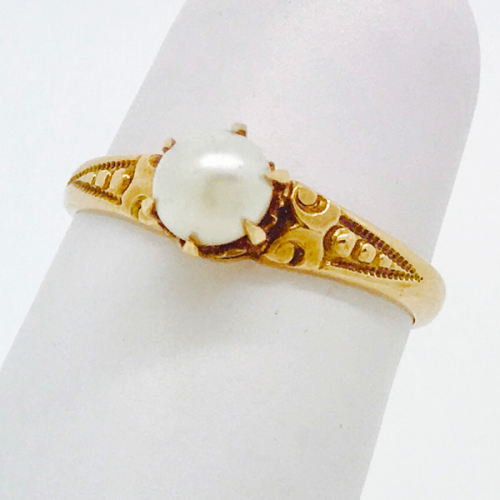 Vintage Cultured Pearl Ring