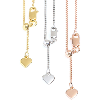 Sterling Silver or Vermeil Adjustable Chains