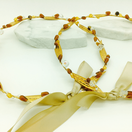 Olive Leaf Stefana With Citrine