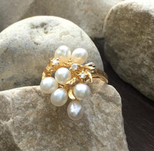 Load image into Gallery viewer, Freshwater Pearl & Diamond Ring