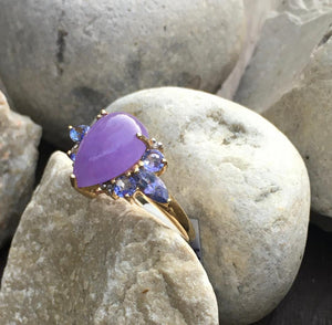 Purple Jade & Tanzanite Ring