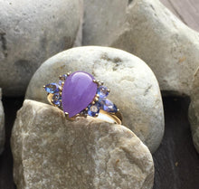 Load image into Gallery viewer, Purple Jade & Tanzanite Ring