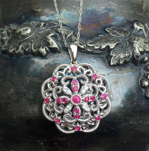 Load image into Gallery viewer, Romantic Ruby & Diamond Pendant