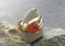 Load image into Gallery viewer, Orange Sapphire (Synthetic) 14kt Ring