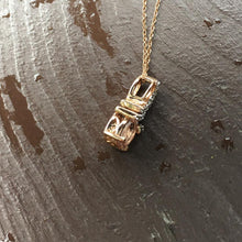 Load image into Gallery viewer, Morganite & White Topaz Pendant