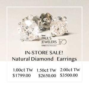 Natural Diamond Solitaire Earrings