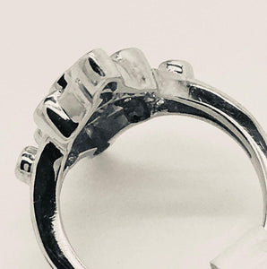 Vintage Large Multi Bezel Set Diamond Ring