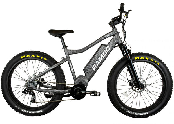Rambo Nomad 750w XPS Carbon Electric Bike - Wired Wheels