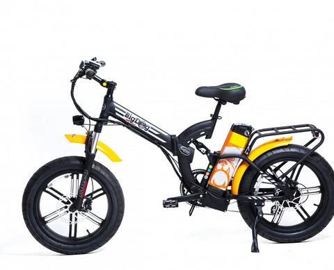 Green Bike Electric Motion Big Dog Off Road Electric Bike - Wired Wheels