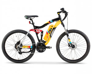 Green Bike Electric Motion Enduro 48 Electric Mountain Bike - Wired Wheels