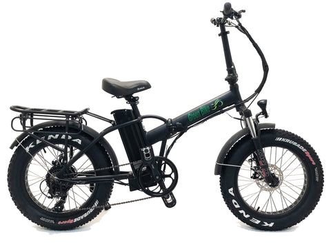 Green Bike USA GB1 Fat Tire Folding Electric Bike - Wired Wheels