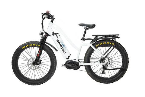 BAKCOU Mule Step-Through (ST) Electric Bike - Wired Wheels