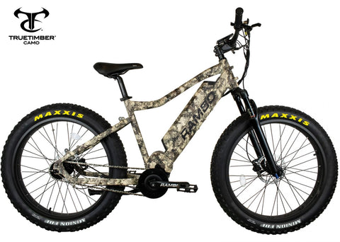 Rambo Bushwacker 750w XPC Truetimber Electric Bike - Wired Wheels