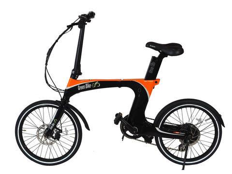 Green Bike USA GB Carbon Light Folding Electric Bike - Wired Wheels