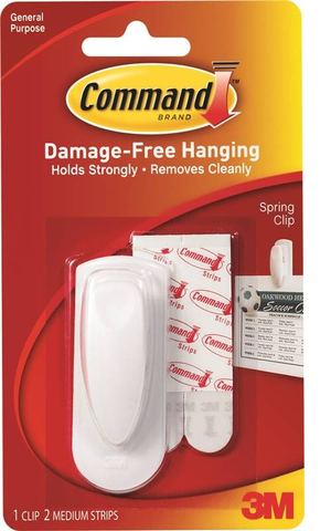 3M Command damage free hanger 1 clip 2 medium strips
