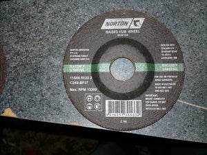 Black masonry raised grinding wheel Norton 115x6.0x22.2 BR267228 C24S-BF27