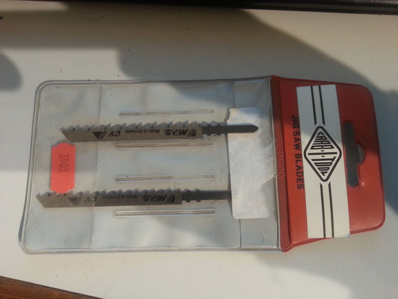 MPS P1D Jigsaw blade pkt(2) rare find! In Carb-I-Tool 2-pack pouch #3503-2 German made.