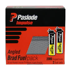 Paslode B20732 Angled Brad + Fuel Pack 2000 brads 32x1.6 and 2 fuel cells JUN18