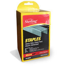 Staples 10mm 3/8inch (2000) Sterling brand Heavy duty chisel point