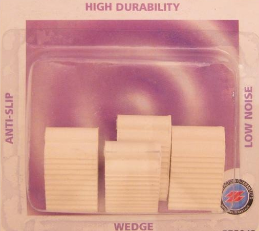 Window Wedges - white rubber - anti-slip durable pkt(4)