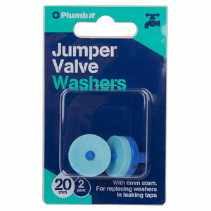 20mm Acetal jumper valve with washer 2-pack