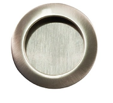 Image of Sylvan Round Flush Pull 41.2mm overall Satin Nickel Plated