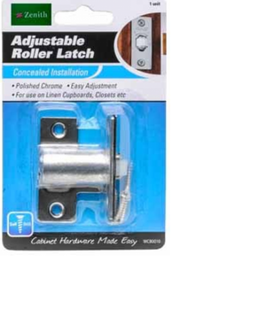 Adjustable roller latch polished chrome