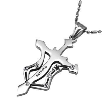 Image of Titanium Zodiac Sign Pendants