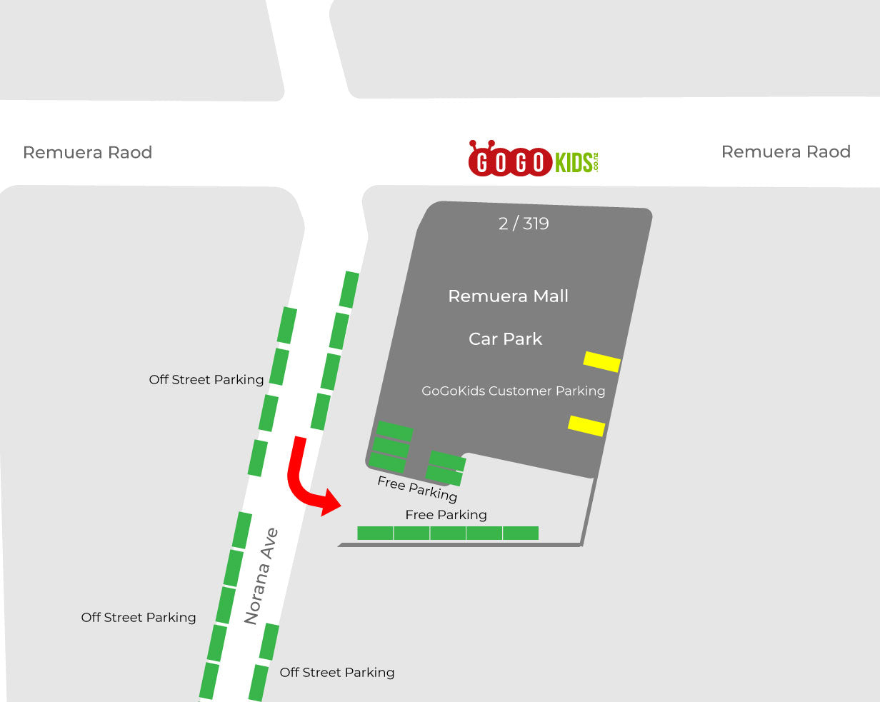 Parking Map at GoGoKids Remuera