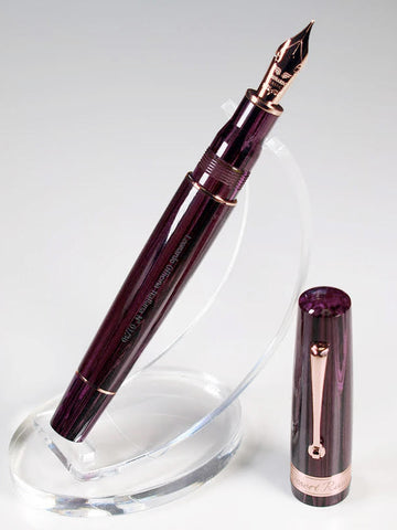Momento Zero Grande - Desert Rose Fountain Pen (LTD) - Rose Gold Trims