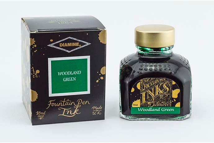 Diamine Woodland Green - Bottled Ink 80ml | Pen Venture