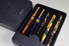 Breton - Travel Case For 5 Fountain Pens (Black Stingray Leather)