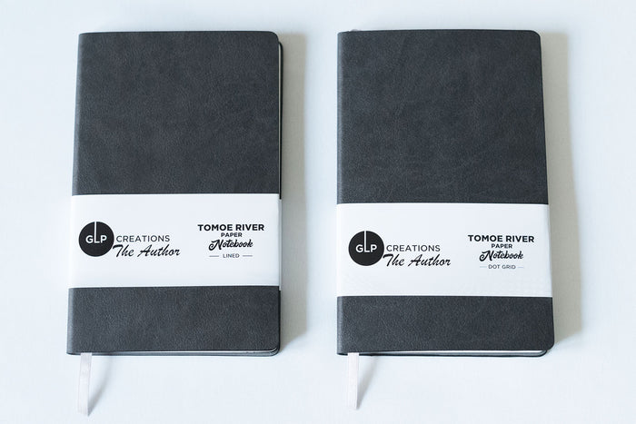 GLP Creations The Author Tomoe River Notebook - Anthracite | Pen Venture - Passionf for Luxury