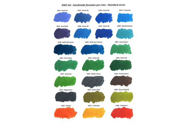 KWZ - All Colors - Bottled Ink 60 ml