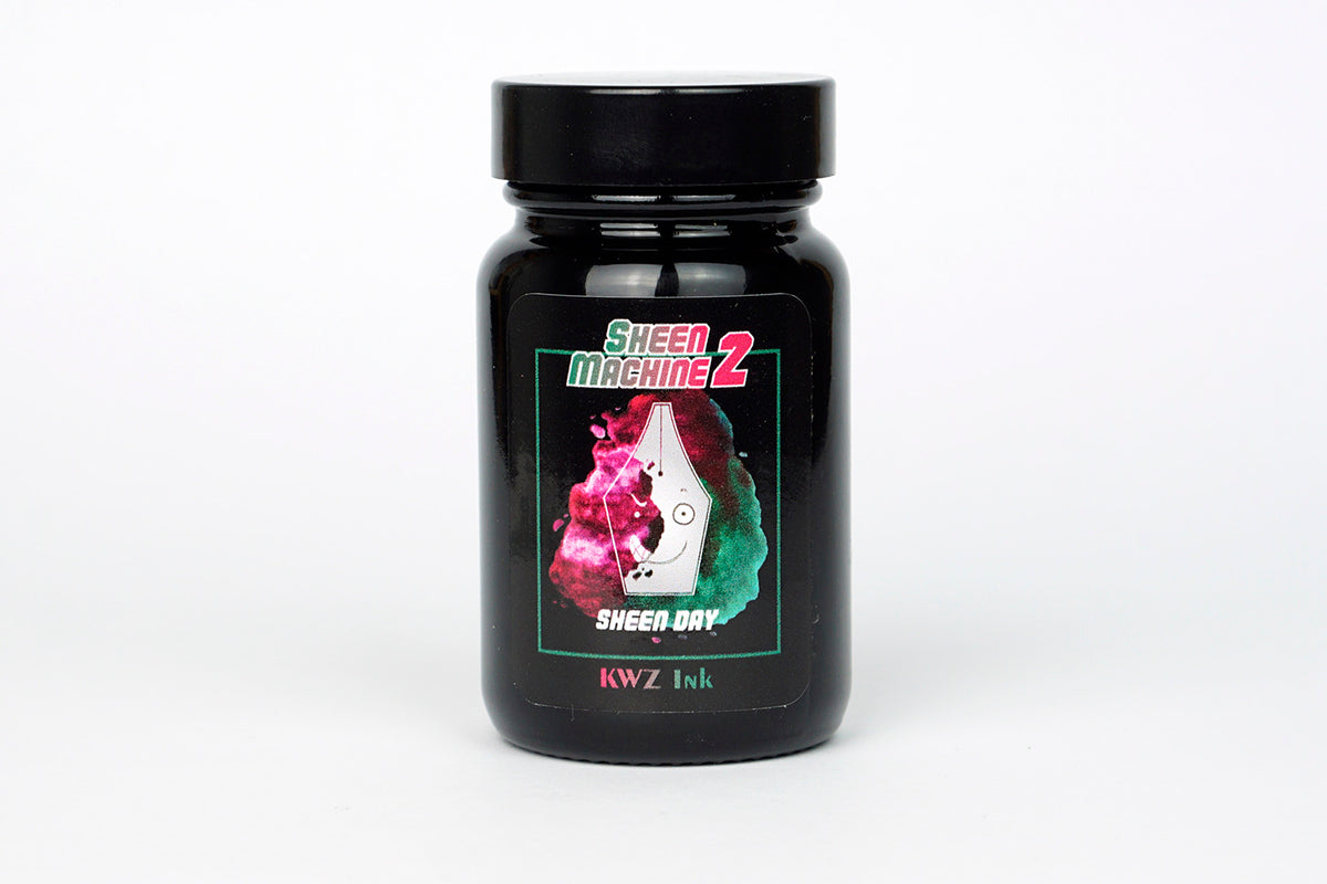 KWZ Ink - Sheen Machine 2 - Green Bottled Ink 60 ml | Pen Venture - Passion for Luxury