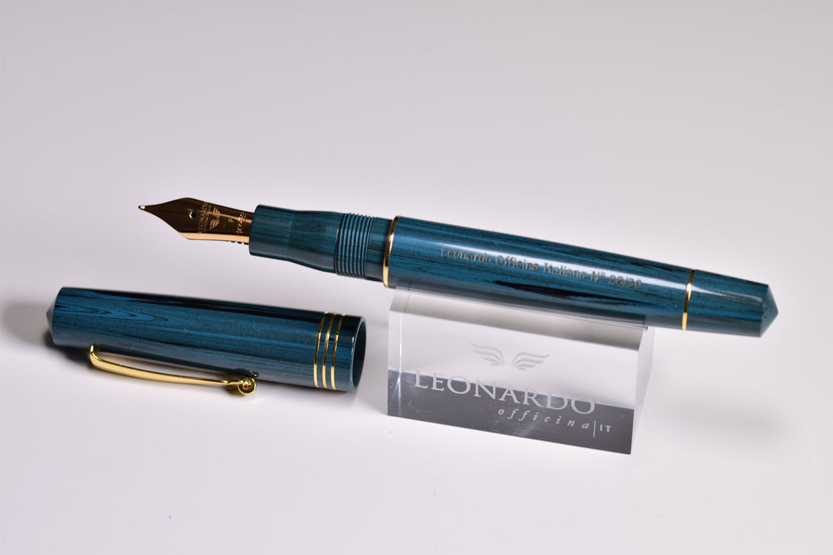 "Leonardo Momento Zero - Green Ebonite ""Olive"" Fountain Pen (LTD)"