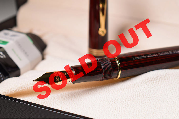 Leonardo Momento Zero - Ebonite Rosewood Limited Edition Fountain Pen (LTD) | Pen Venture - Passion for Luxury