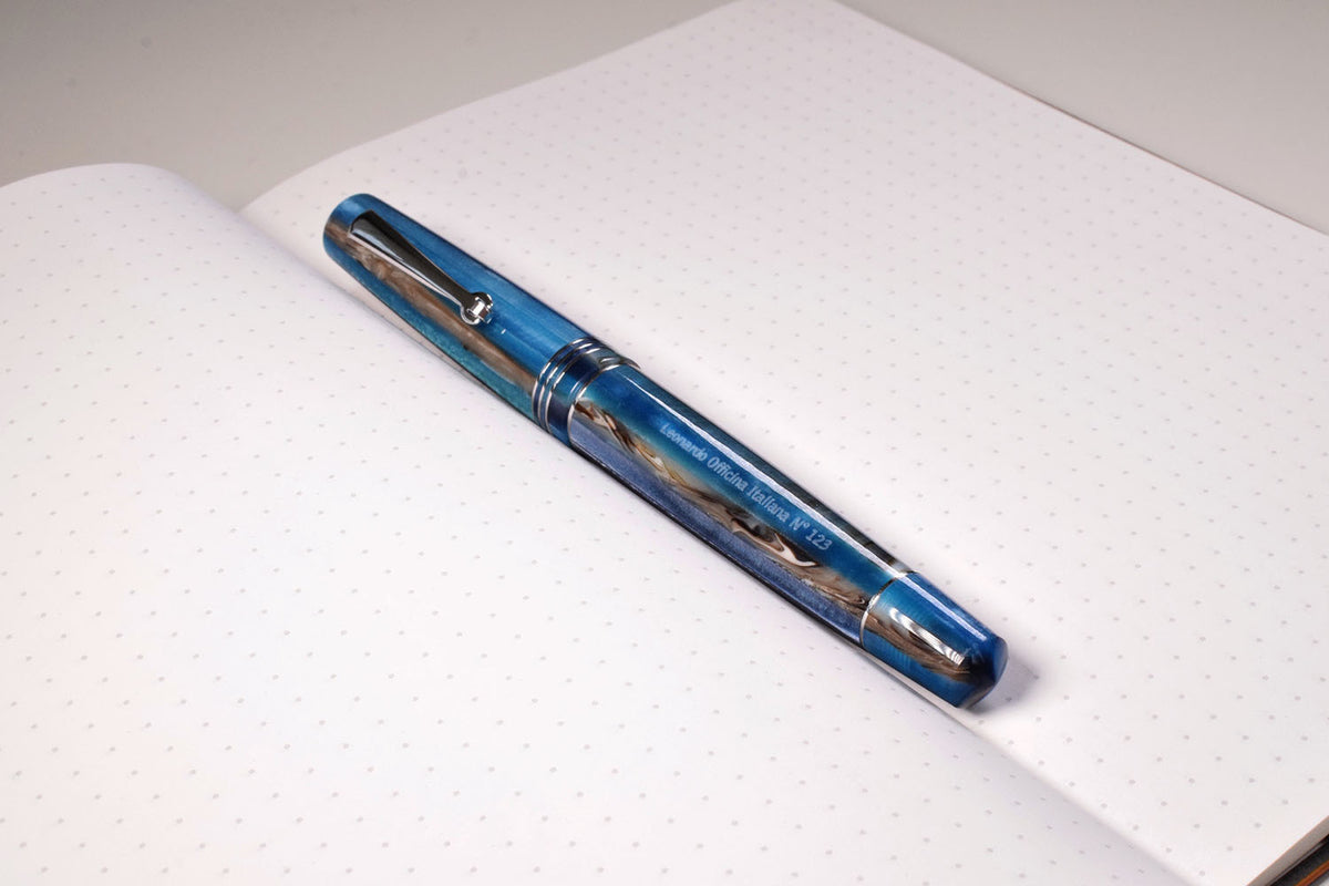 Leonardo Officina Italiana blue hawaii pen venture passion for luxury