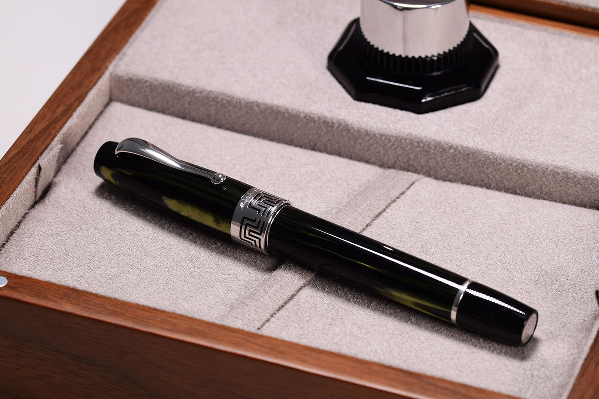 Montegrappa extra 1930 Fountain Pen - Bamboo Black gold Nib | Pen Venture - Passion for Luxury
