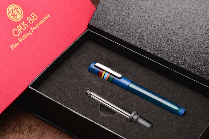 Opus 88 Fantasia Fountain Pen Blue Pen Venture Passion for Luxury