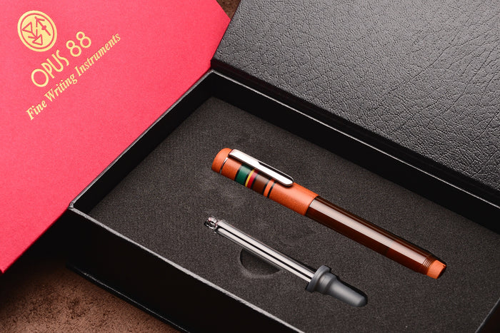 Opus 88 Fantasia Fountain Pen Terracotta Pen Venture Passion for Luxury