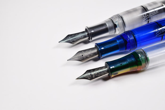 Stipula Etruria - Rainbow Nibs - gold steel titanium | Pen Venture - Passion for Luxury