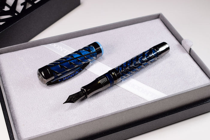 Visconti Watermark - Blue Moon Limited Edition Fountain Pen | Pen Venture - Passion for Luxury