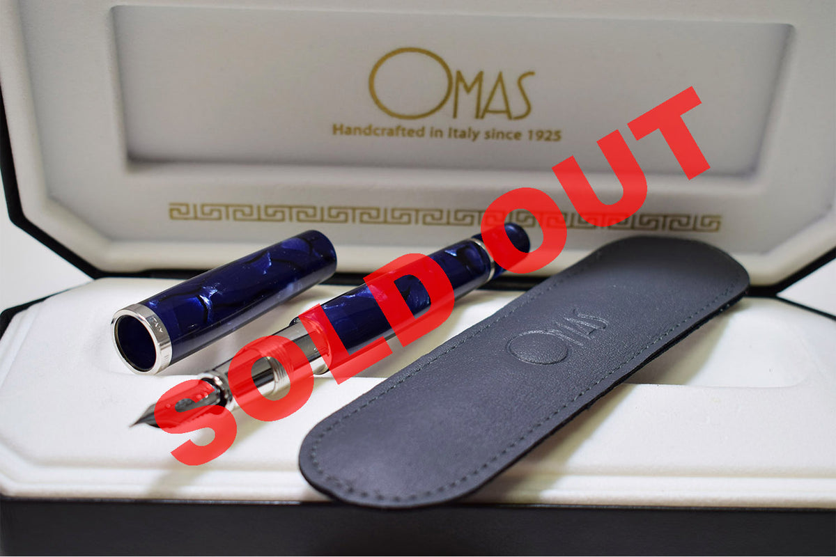 Sold Out - Omas - Bologna Blue La Royale | Pen Venture - on consignment