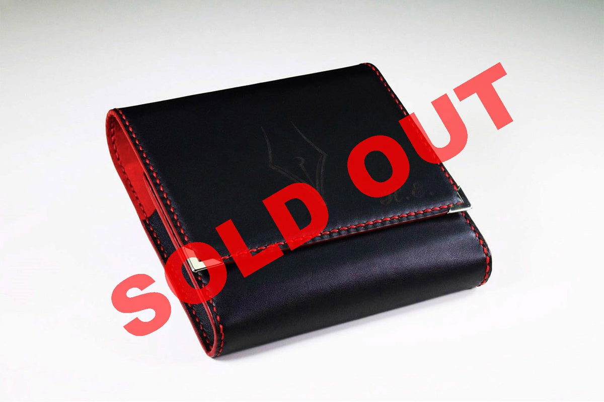 Conquistador - Leather Black and Red Pencase | Pen Venture - Passion for Luxury
