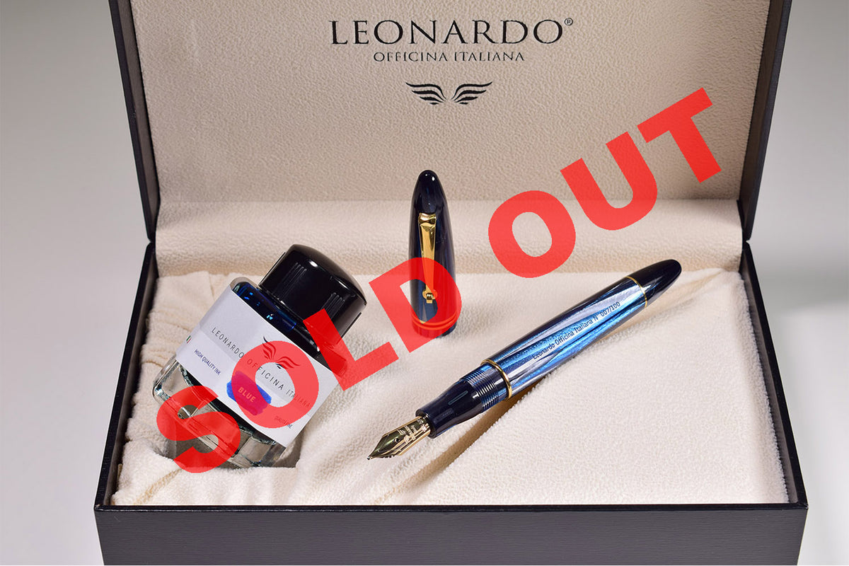 Leonardo Furore - Blue Abyss Celluloid (LTD) (Gold Nib)